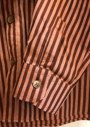 Hand Me Down - Stripe Cotton Shirt - King & Tuckfield