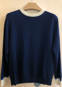 Hand Me Down - Navy Crew Neck Knit - King & Tuckfield