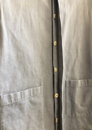 Hand Me Down - Pale Blue Cotton Pocket Over Shirt - King & Tuckfield
