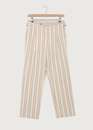 Stripe Cotton Pleat Trouser KTXRB - King & Tuckfield
