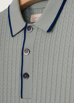 50'S INSPIRED GREEN MALIBU TEXTURED POLO - King & Tuckfield