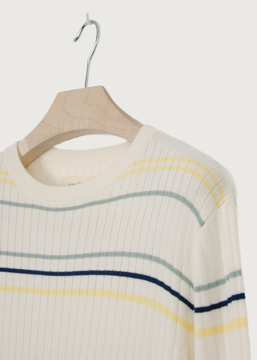 Stripe Knitted Crew Neck