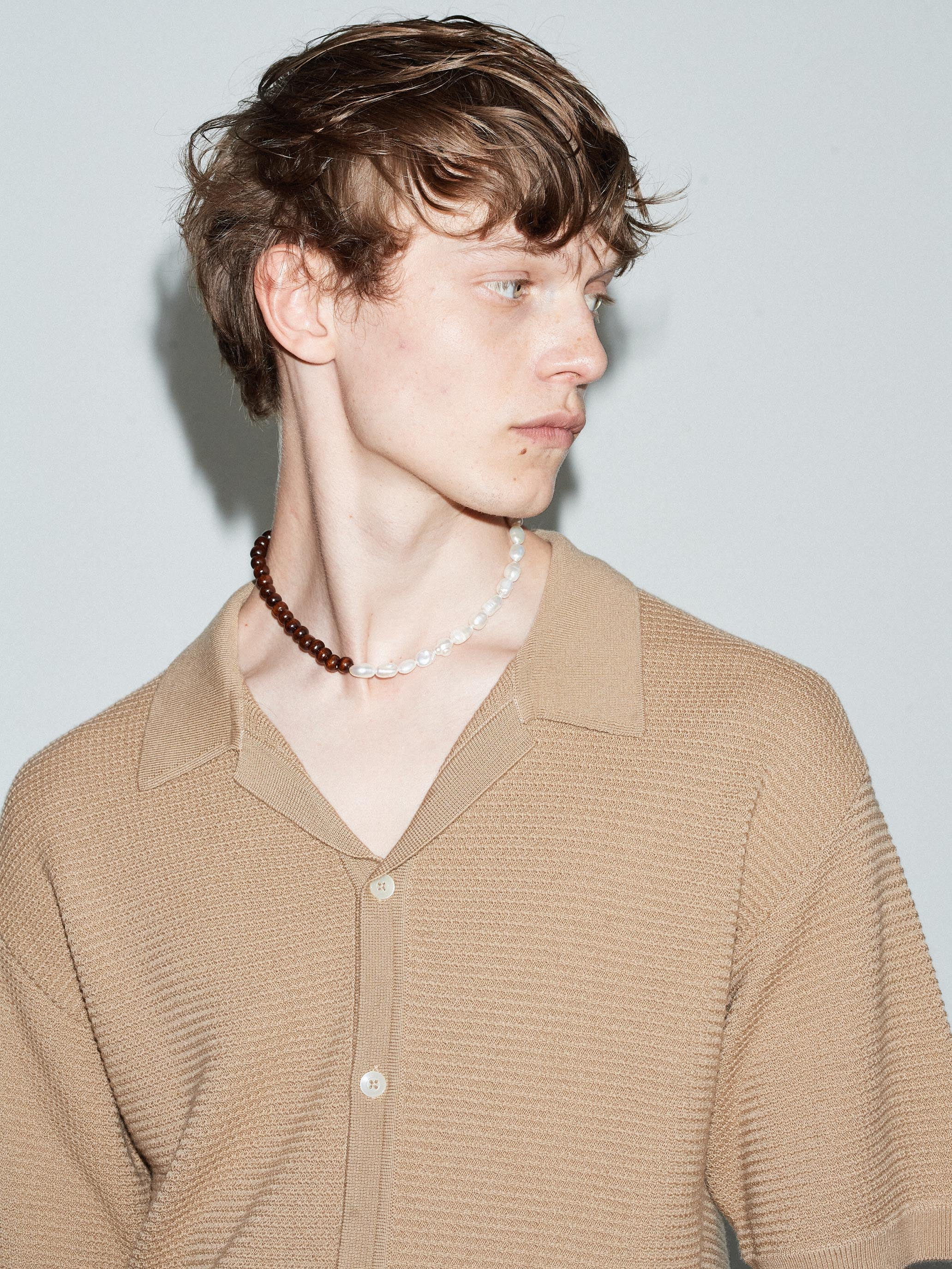 MERINO KNITTED CAMP COLLAR SHIRT