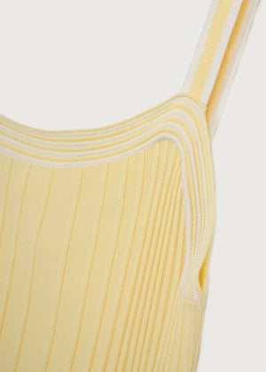 Citron Knitted Ribbed Vest - King & Tuckfield