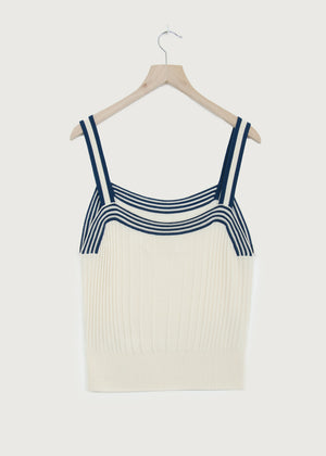 Vanilla Ice Knitted Ribbed Vest - King & Tuckfield