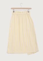 Yellow Stripe Soft Waist Wrap Skirt - King & Tuckfield