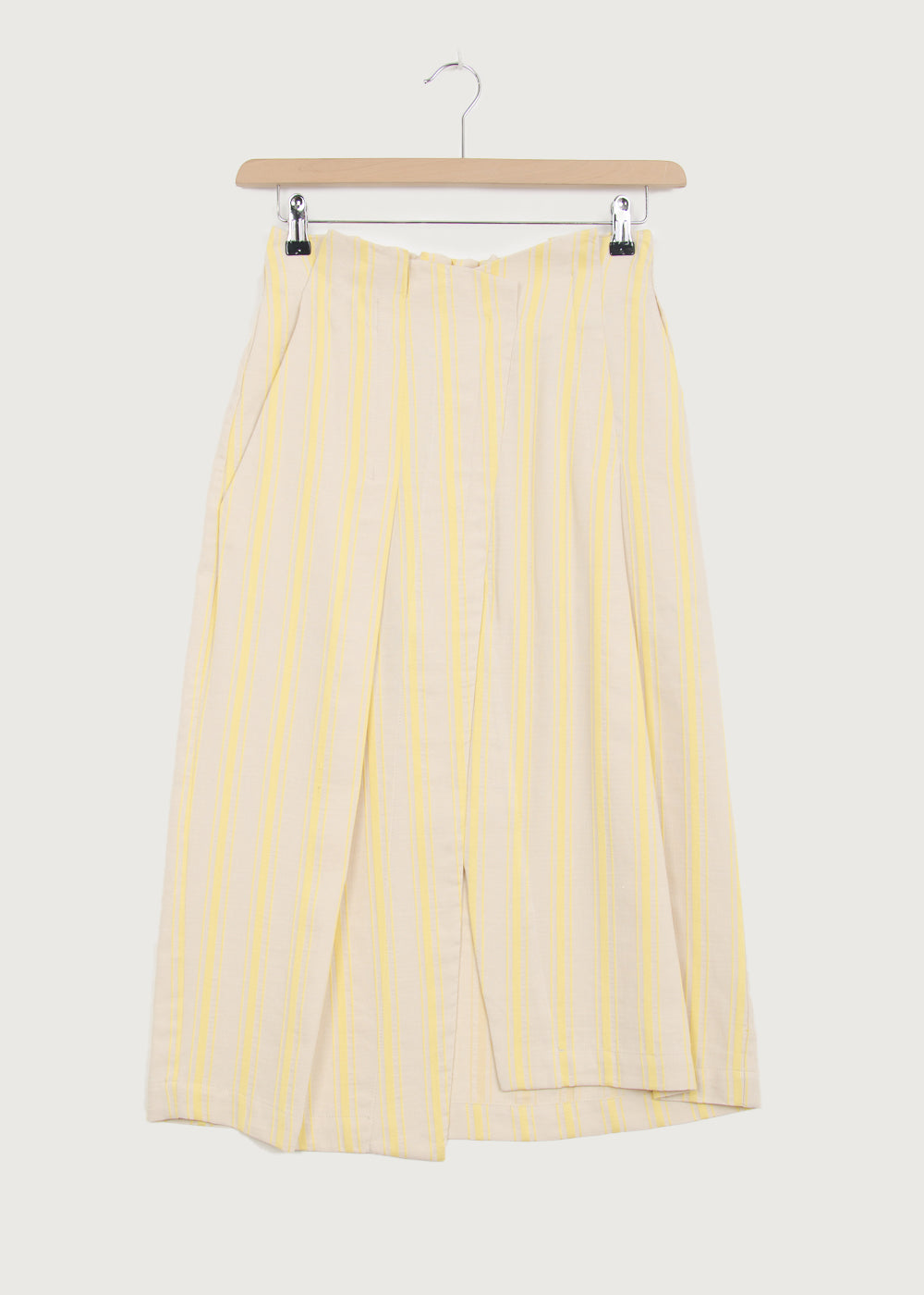 Yellow Stripe Soft Waist Wrap Skirt