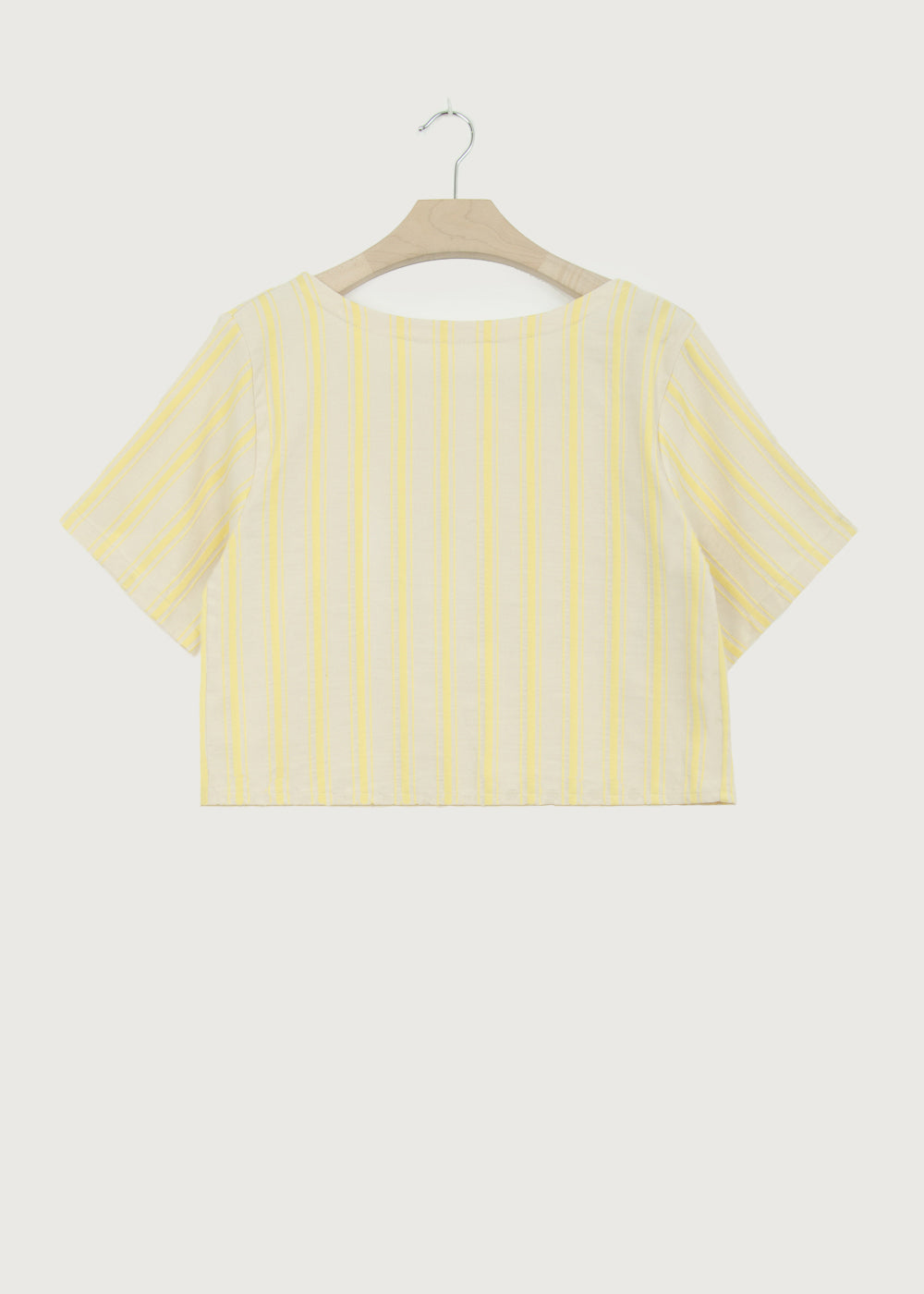 Yellow Stripe Back Wrap Top - King & Tuckfield