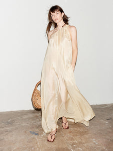 SAND ONE SHOULDER DRESS