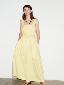 LEMON SQUARE NECK JUMPSUIT