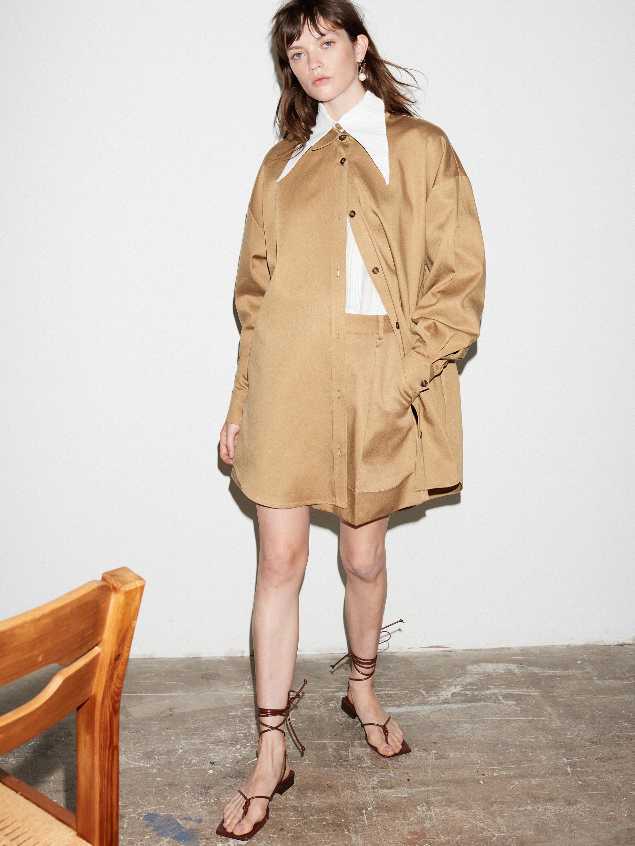 NUTMEG OVERSIZED SHIRT DRESS