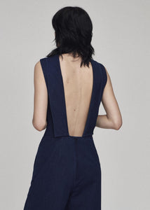 Hand Me Down - Double dyed Indigo Rinse Jumpsuit - King & Tuckfield