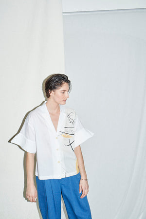 Organic Cotton Structured Shirt Illustrated by Jessica Bird