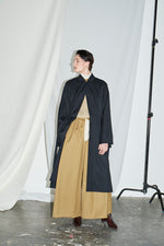 Tie Sleeve Trench Coat Black - King & Tuckfield