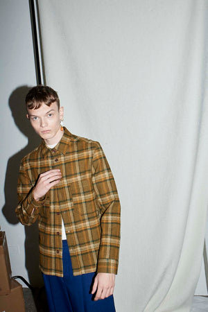 Walnut Check Over Shirt - King & Tuckfield