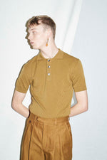 Olive Textured Polo - King & Tuckfield