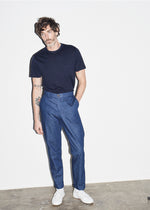 Merino Navy Pocket T-shirt - King & Tuckfield