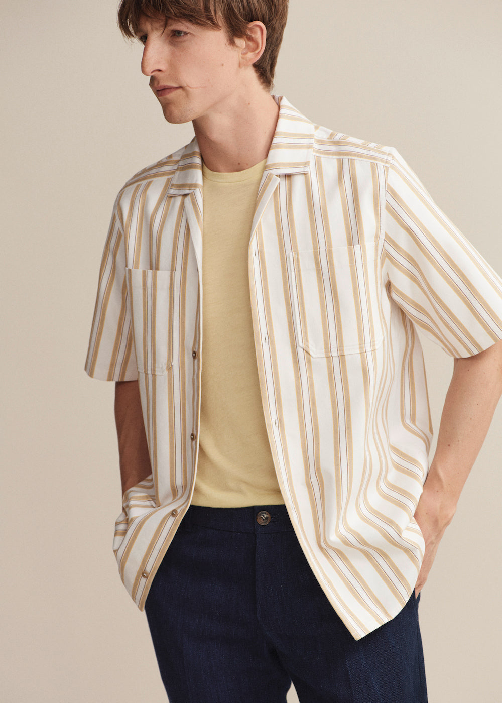 Stripe Pocket Bowling Shirt