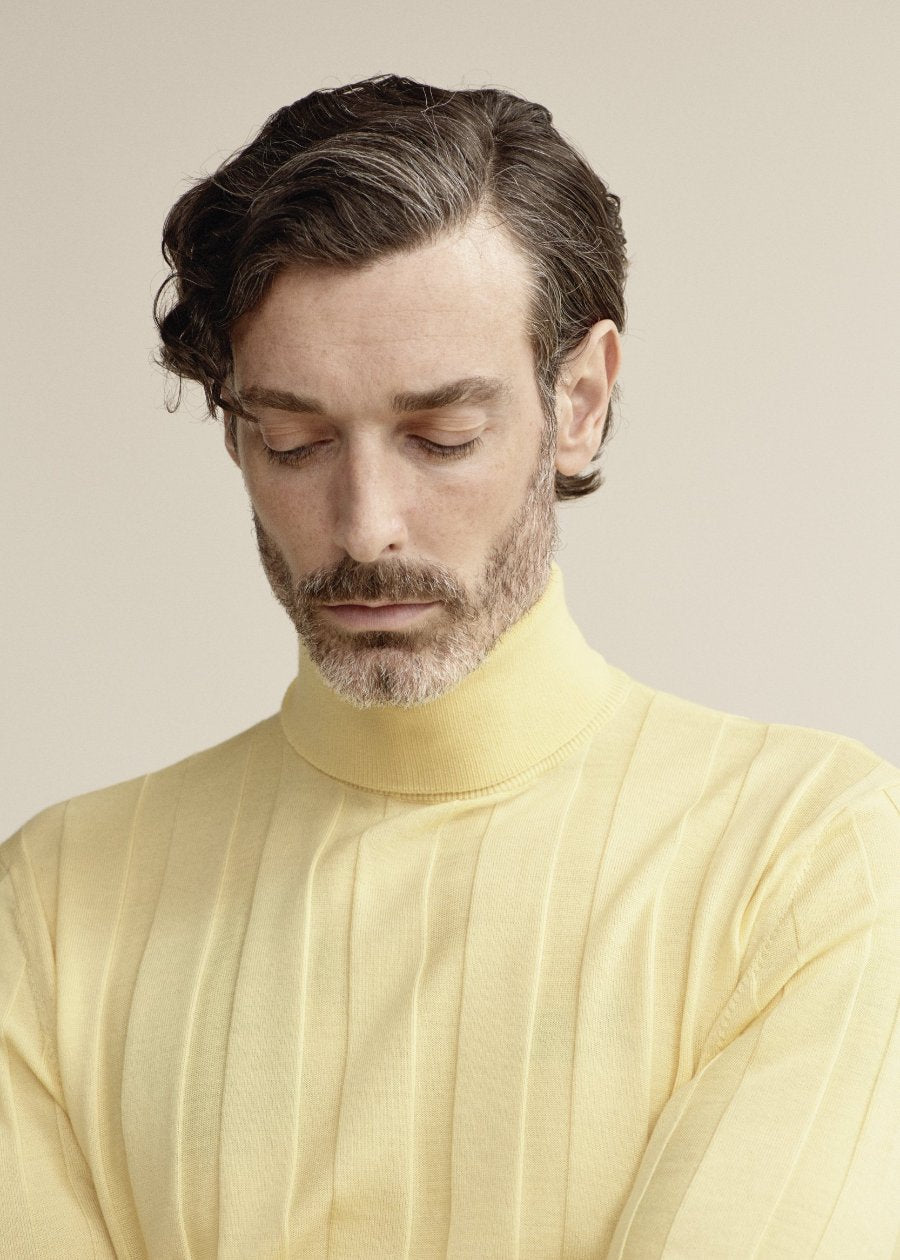 Citron Long Sleeve Polo Neck