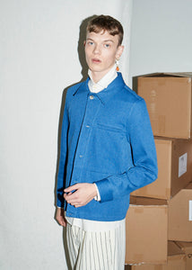 Bright Indigo Denim Workwear Over Shirt