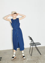 Bright Indigo Wrap Front Denim Dress - King & Tuckfield