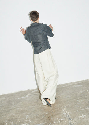 Wide Pleat Leg Trouser