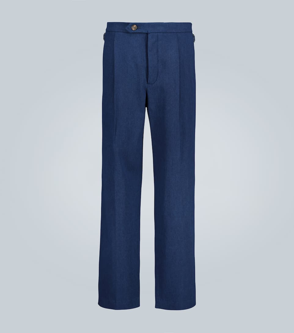 Bright Indigo Pleat Trouser - King & Tuckfield