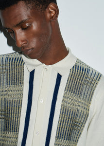 Knitted Patterned Vanilla Cardigan - King & Tuckfield
