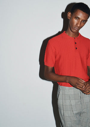 Red Textured Polo - King & Tuckfield