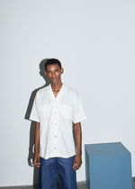 White Pocket Bowling Shirt - King & Tuckfield