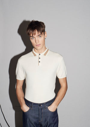 SS Vanilla Textured Polo - King & Tuckfield