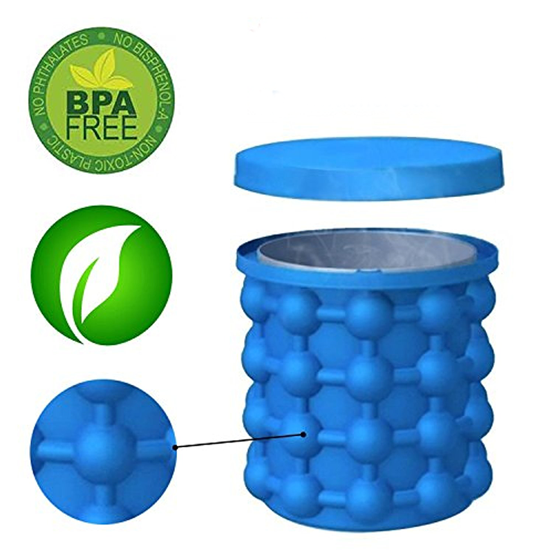 Bac à glaçons en silicone révolutionnaire Bucket Bubble-Ice