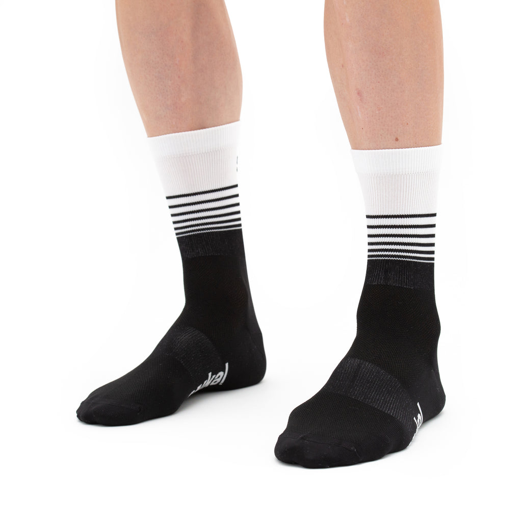 Unisex Segments Socks - Black
