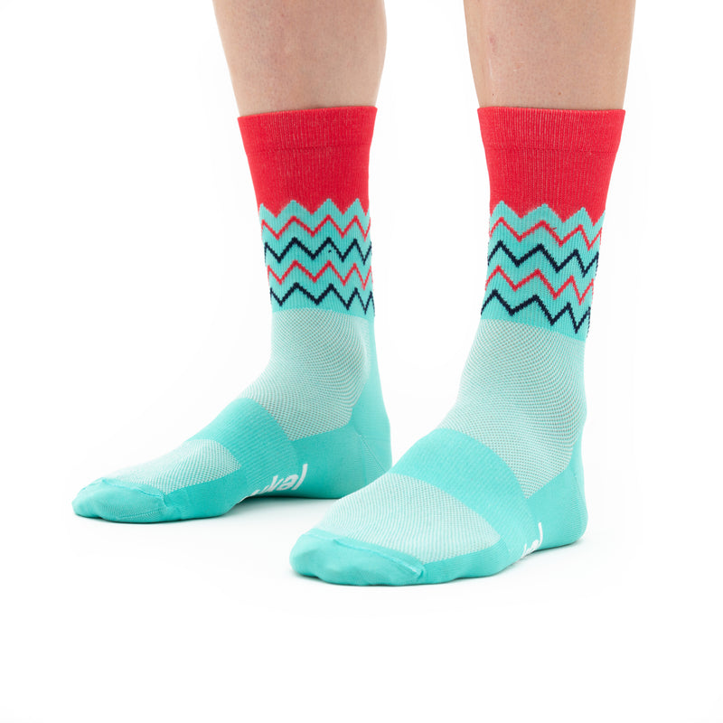 Unisex Chevrons Socks - Mint