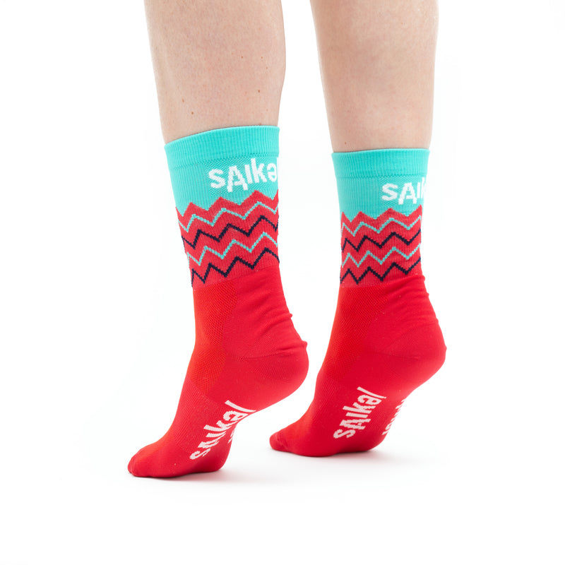 Unisex Chevrons Socks - Red