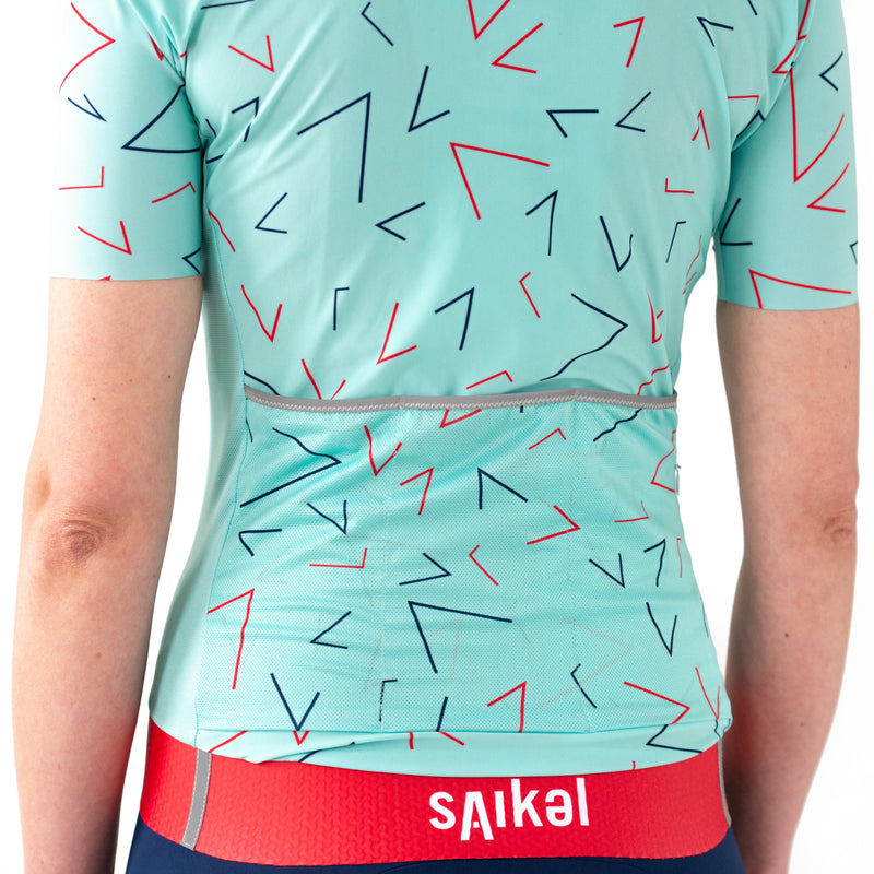 Womens Chevrons Jersey - Mint