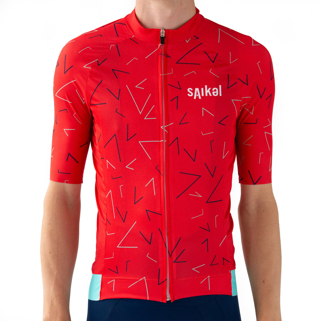 Mens Chevrons Jersey - Red