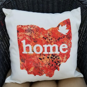 Fall Ohio - Limited Edition Pillow - Laughing Girl Design