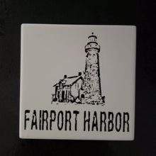 Load image into Gallery viewer, Fairport Harbor Ohio Lighthouse coasters -Set of 4