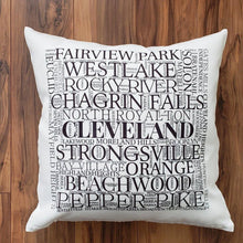 Load image into Gallery viewer, Cuyahoga County, Cleveland-Suburbs Pillow