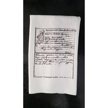 Load image into Gallery viewer, Recipe Towel, Heirloom recipe Towels - Laughing Girl Design