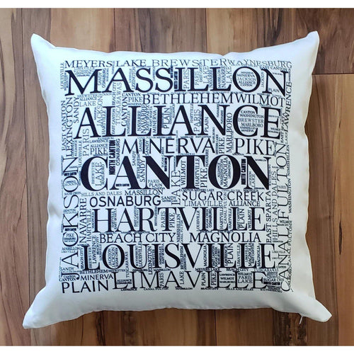 STARK COUNTY OHIO Pillow - Laughing Girl Design