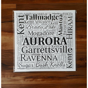 PORTAGE COUNTY OHIO PRINT - Subway design of towns that you may call HOME - Laughing Girl Design