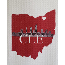 Load image into Gallery viewer, Cleveland Skyline Towels - Laughing Girl Design