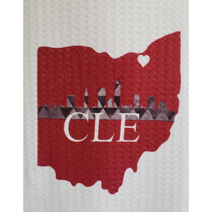 Cleveland Skyline Towels - Laughing Girl Design