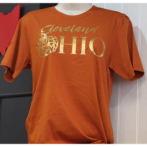 Cleveland Ohio Pumpkin T Shirt - Laughing Girl Design