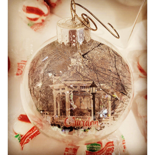 Chardon, Ohio Ornament - Laughing Girl Design