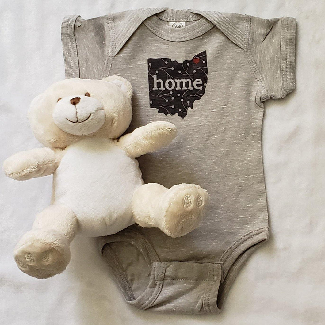 Ohio Baby Bodysuit Black and White - Laughing Girl Design