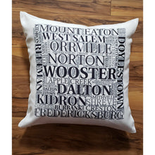 Load image into Gallery viewer, WAYNE COUNTY OHIO Pillow - Laughing Girl Design