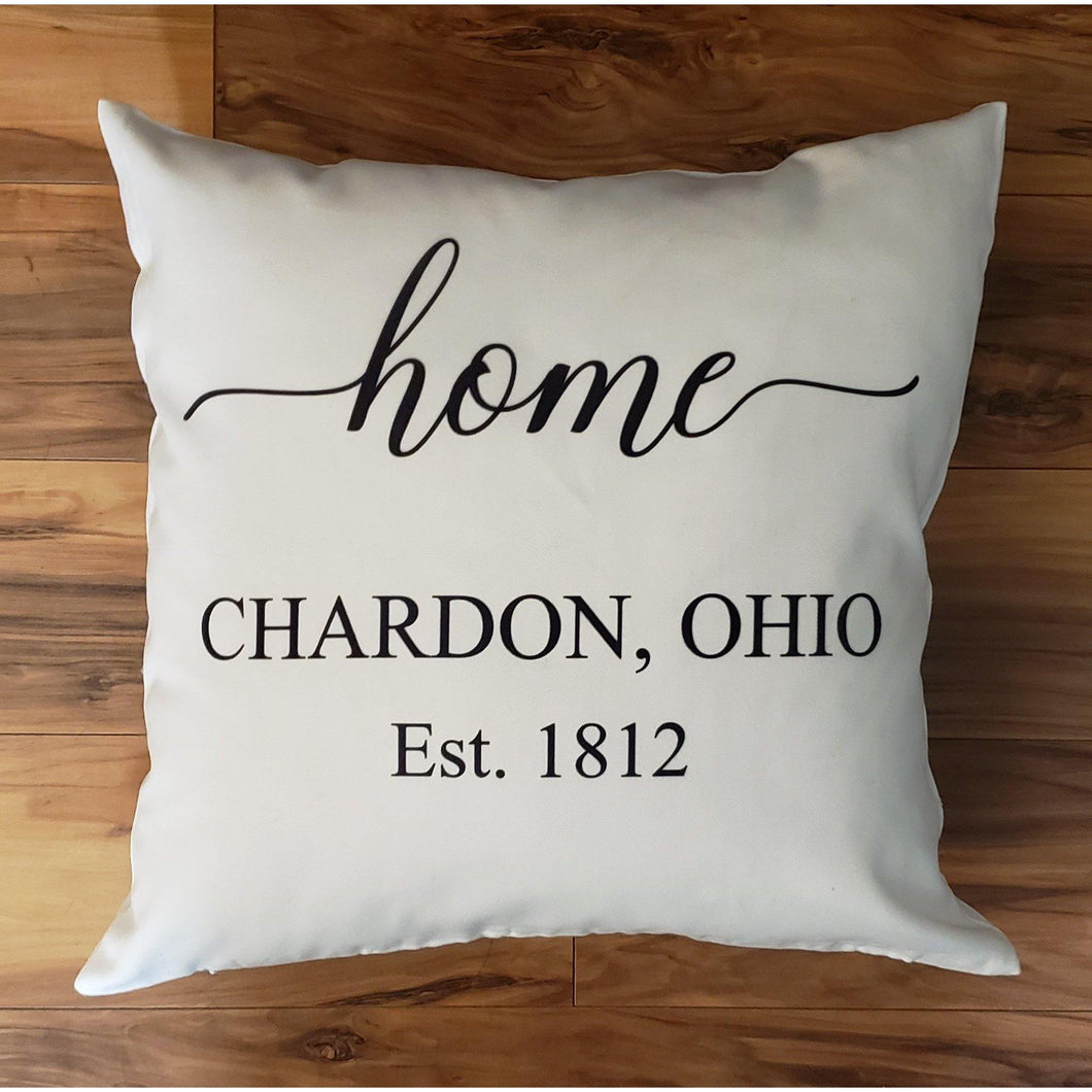 Home Established Pillow - Laughing Girl Design